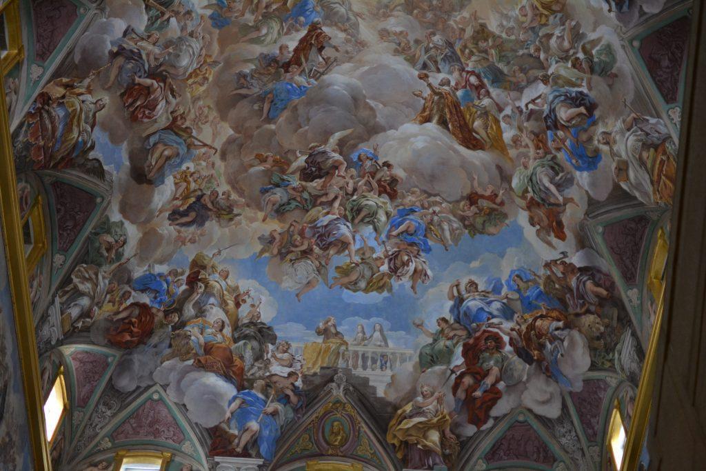 particolare della scalinata principale del monastero del escorial