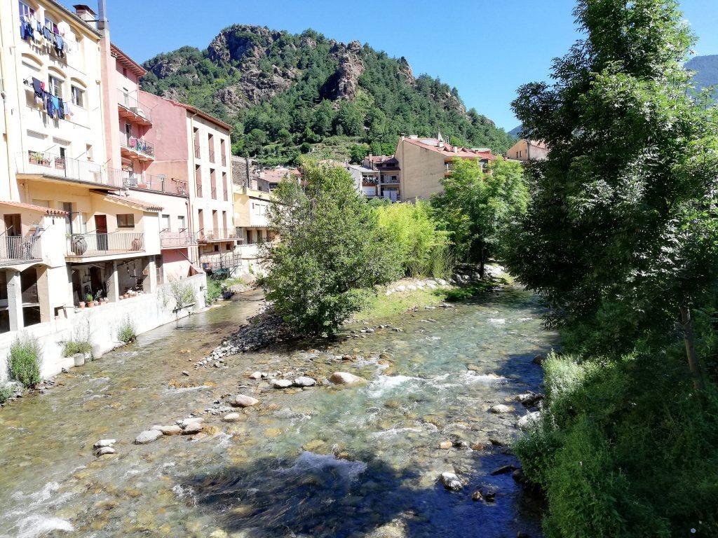 La confluenzatra il fiume Freser e il fiume Rigat