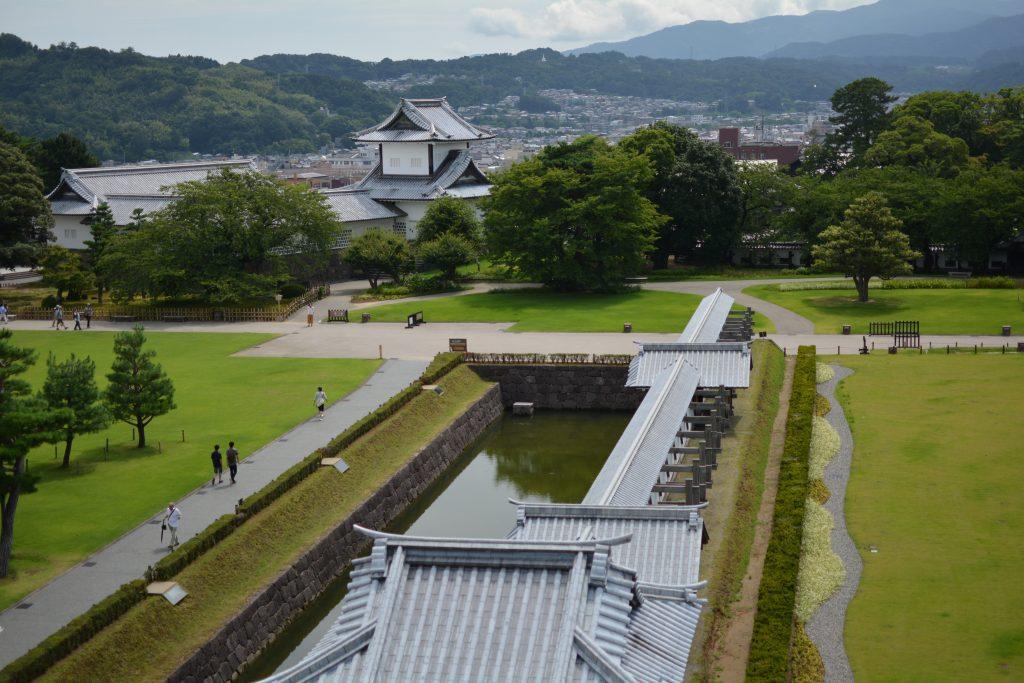 Panorama dal castello di Kanazawa
