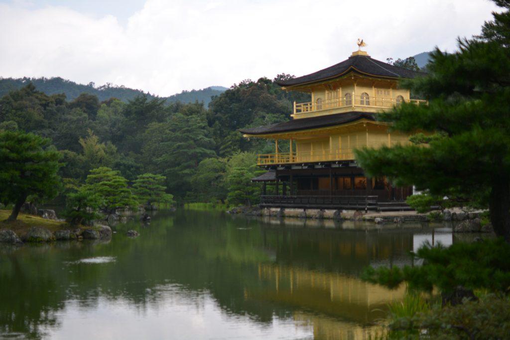 il padiglione d'oro di Kyoto, il tempio Kinkaku-ji a kyoto
