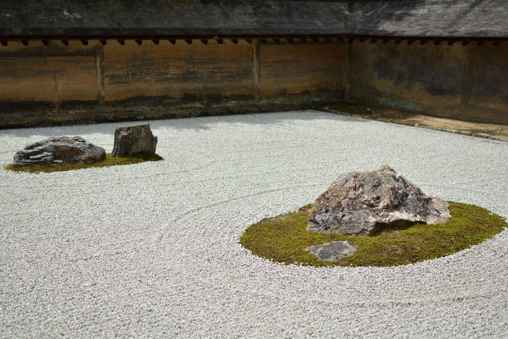 giardino Zen di Ryoan-ji a kyoto