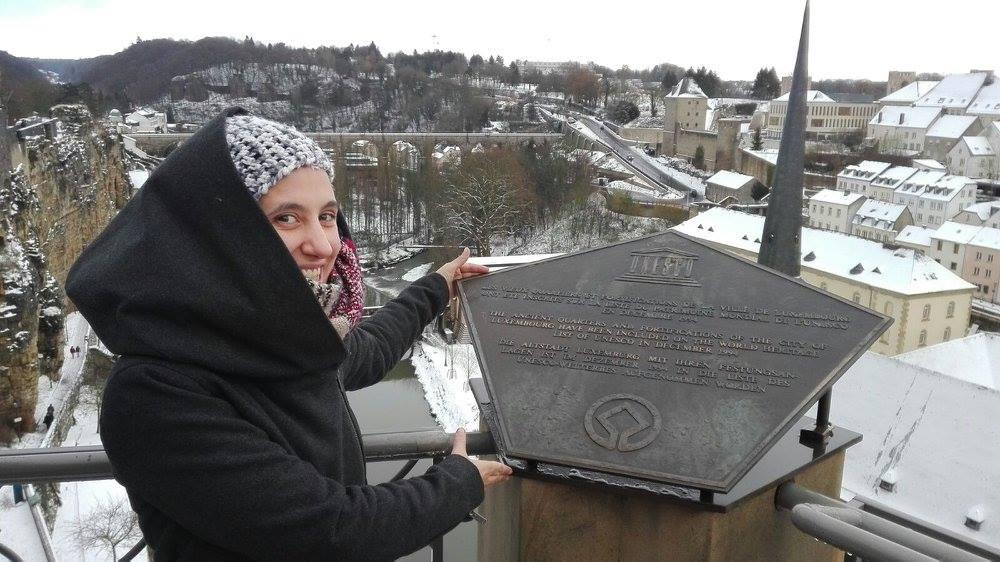il simbolo dei patrimoni dell'Umanità in Lussemburgo