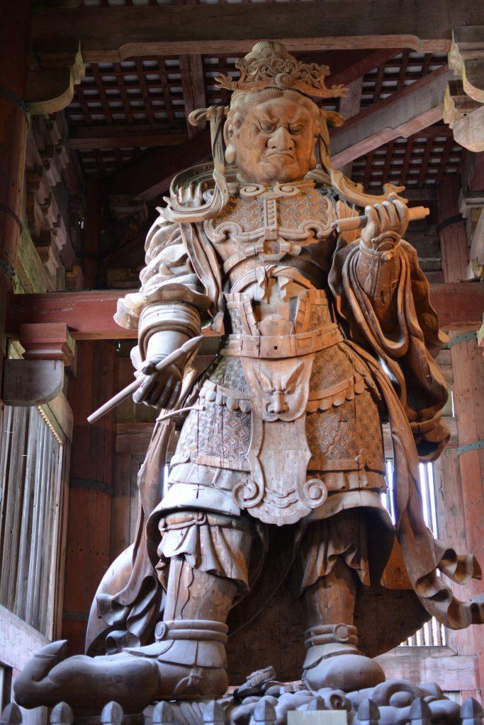 uno dei guardiani celesti, tempio di Todai-ji Nara