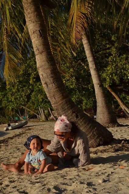 Polinesia francese con i bambini